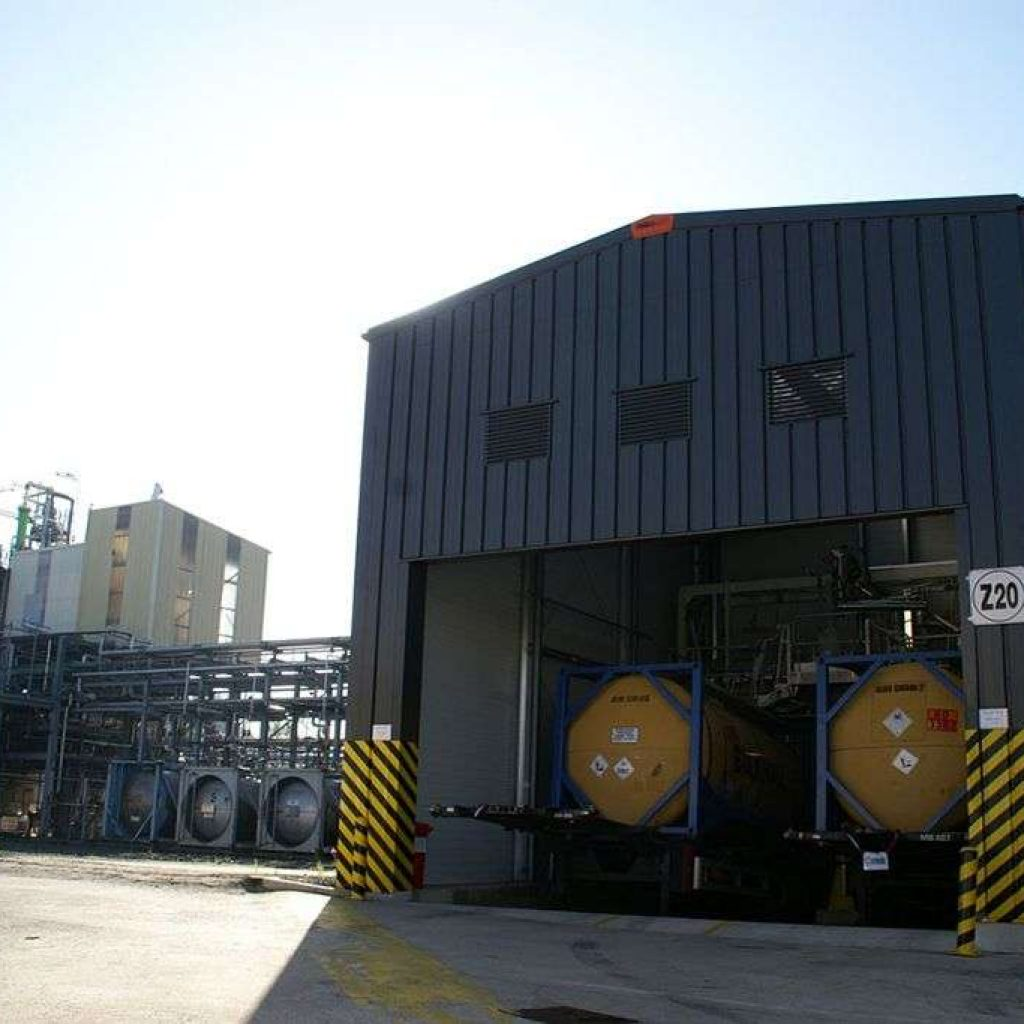 Chemical steel building