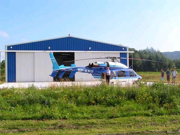 Helicóptero próximo de Pavilhão Desportivo Frisomat