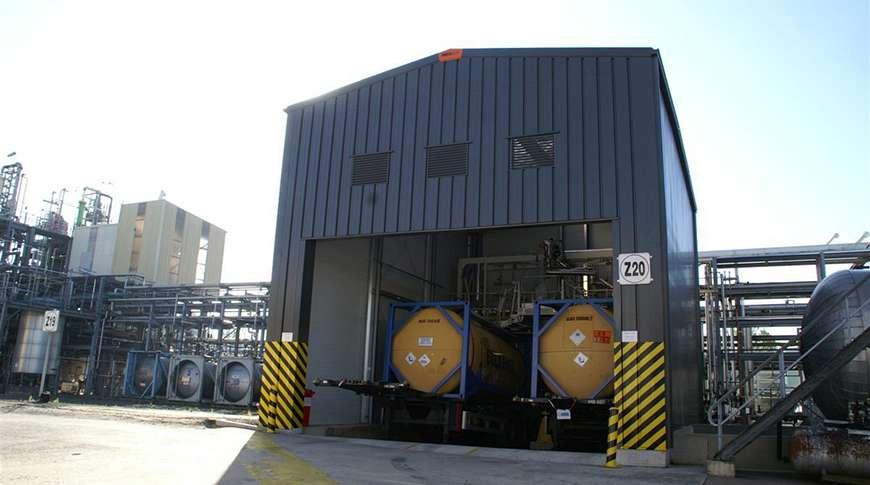 Estrutura Metálica Industrial Armazenamento Complexo Exterior Frisomat
