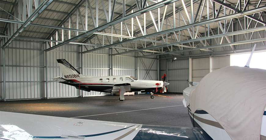 Pavilhão Metálico Industrial Hangar Interior Aeronave Frisomat