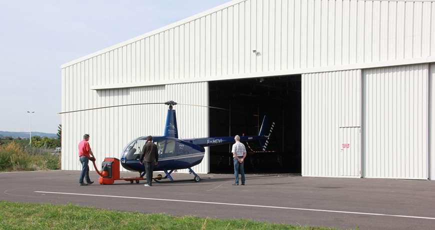 Pavilhão Metálico Industrial Hangar Exterior Helicóptero Frisomat