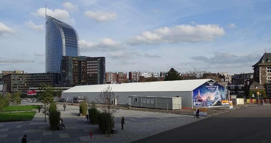 Pavilhão Metálico Patinagem Gelo Exterior Frisomat