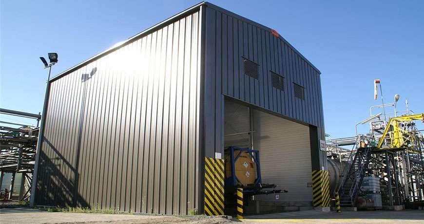 Pavilhão Metálico Industrial Químicos Segurança Frisomat