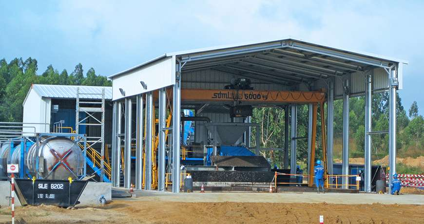 Pavilhão Metálico Industrial Químicos Segurança Exterior Frisomat