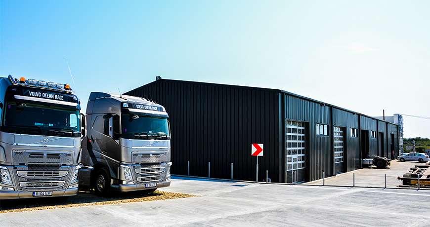Pavilhão Metálico Industrial Salão de Exposição Garagem Exterior Camião Frisomat