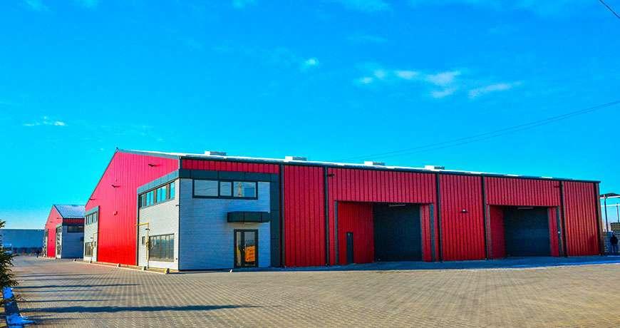 Pavilhão Metálico Industrial Espaço Armazenamento Exterior Frisomat