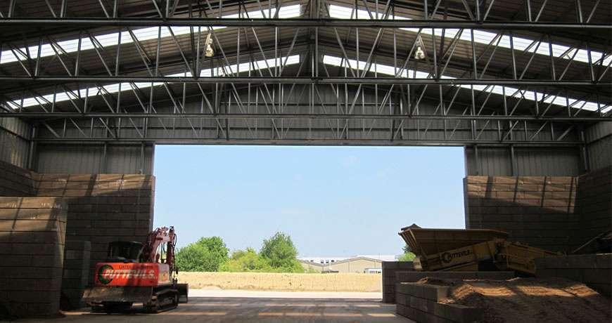 Pavilhão Metálico Industrial Armazenamento Interior Frisomat