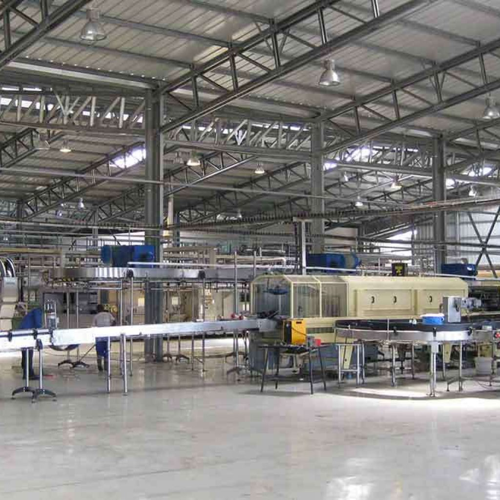 production hall steel industrial building PESB