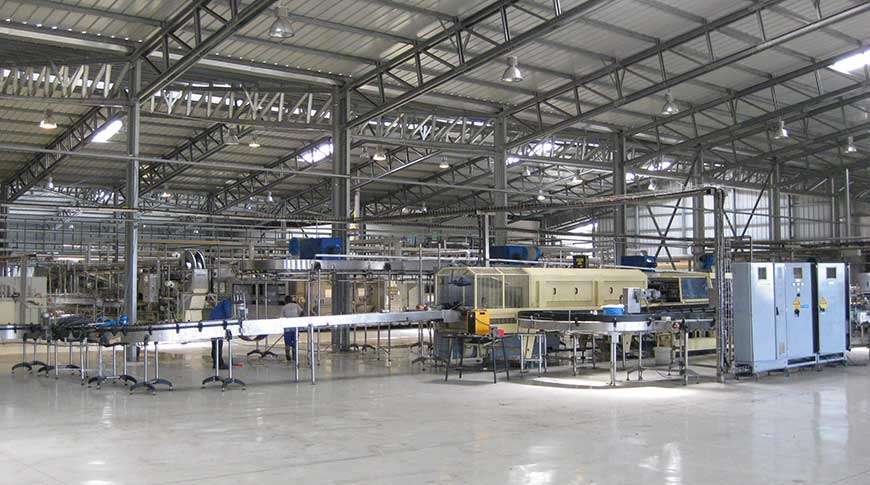 Pavilhão Estrutura Metálica Unidades de Produção Frisomat