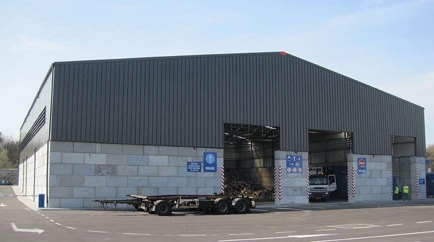 Pavilhões em Aço Indústria de Reciclagem Armazenagem a Granel Frisomat