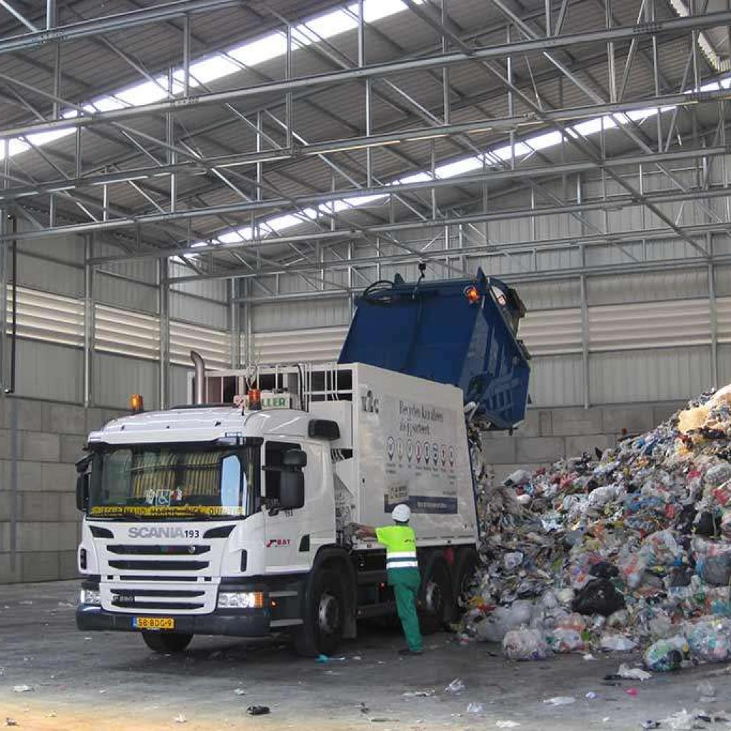 Pavilhão Industrial em Aço Reciclagem Armazenagem a Granel Frisomat
