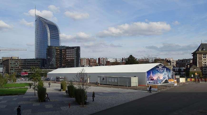 Pavilhões Desportivos Estrutura Metálica Gelo Exterior Cidade Frisomat