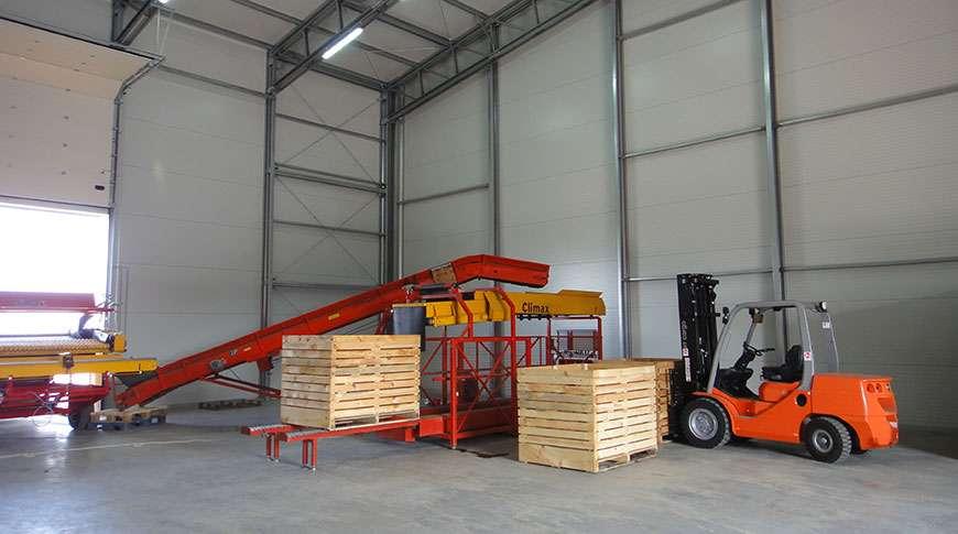 Pavilhão Estrutura Industrial em Aço Armazenamento de Batatas Frisomat