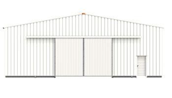 Portão Metálico Deslizante de Hangar de Armazenamento Frisomat