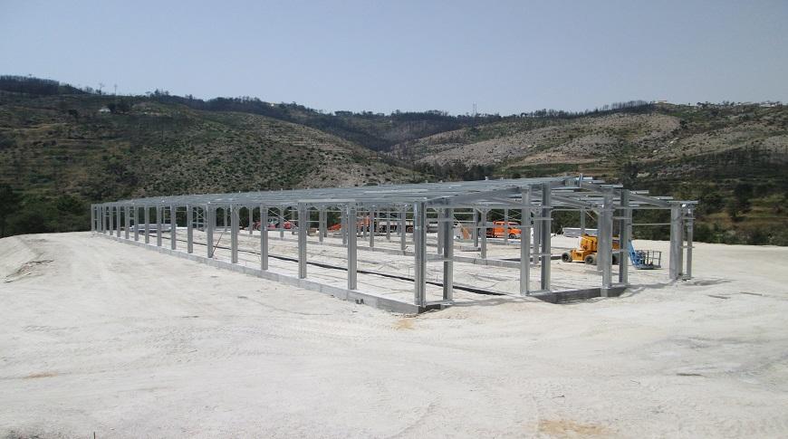 construção de pavilhão