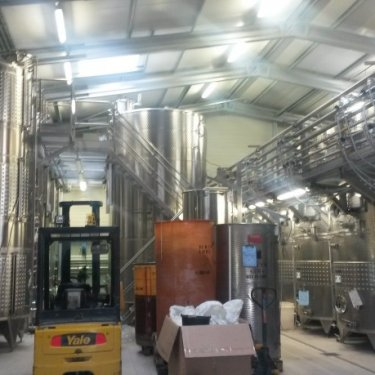 Galvanized steel winery